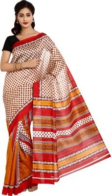 Aaboli Printed Bhagalpuri Silk Sari
