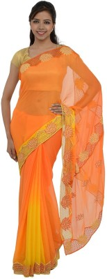 Inspira Solid Fashion Chiffon Sari