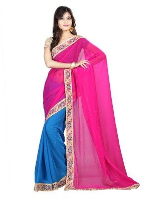 Kalash Sarees Self Design Fashion Chiffon Sari