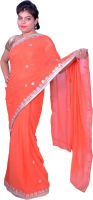 Prishi Impex Self Design Fashion Pure Georgette Sari