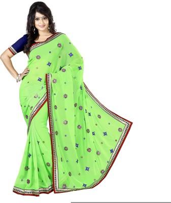 Urjita Creations Embriodered Fashion Chiffon Sari