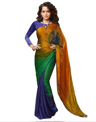 First Lady Embriodered Daily Wear Crepe Sari