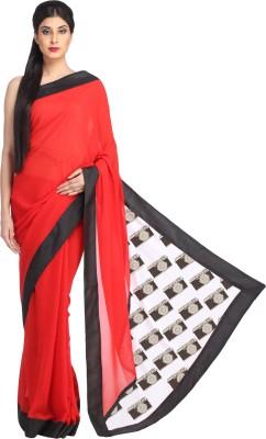 Avya Printed Fashion Handloom Georgette Sari