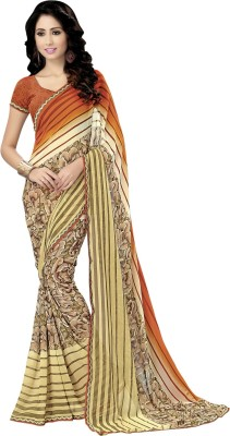 Jp Enterprise Printed Fashion Georgette Sari