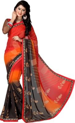 M K Textile Printed Fashion Poly Silk Sari