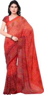 Dewberry Printed Bandhej Synthetic Crepe Sari