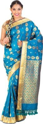 Thara Sarees Self Design Kanjivaram Art Silk Sari