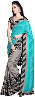 FabPandora Floral Print Bhagalpuri Cotton Sari