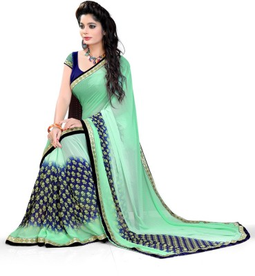 PARA FASHION Printed Bollywood Georgette Sari