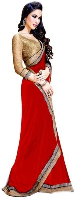 Wowcreation Self Design Bollywood Handloom Chiffon Sari