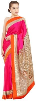 Harsiddh Fashion Solid, Self Design Bollywood Georgette Sari