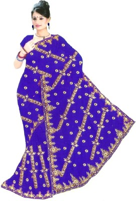 Coloursexports Embellished Bollywood Pure Georgette Sari