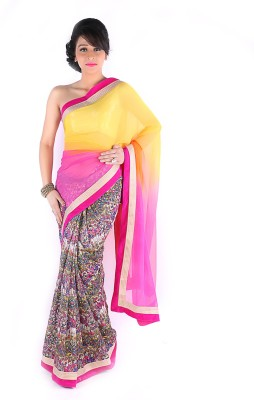 Suchi Fashion Embriodered Fashion Net Sari