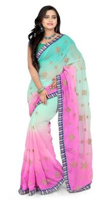 Murli Manohar Fashions Self Design Bollywood Handloom Chiffon Sari