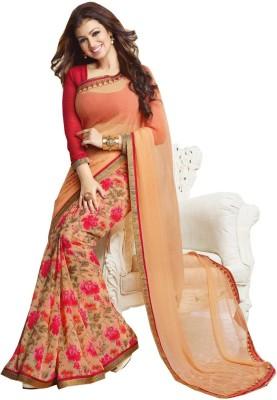 TriveniCreation Printed Daily Wear Georgette Sari