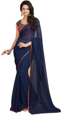 Fashion Forever Solid Fashion Georgette Sari