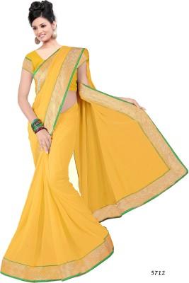 CD Enterprise Solid Bollywood Georgette Sari