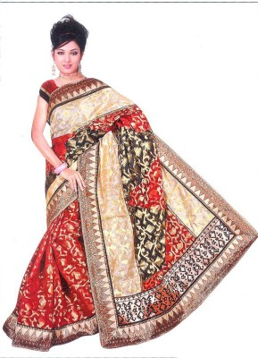 Gokul Saree Self Design Patola Brocade Sari