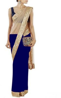 Deepak Sari Solid Fashion Net Sari