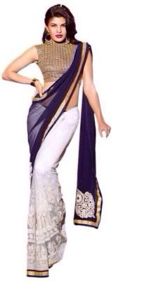 Jay Ambe Self Design Fashion Handloom Georgette Sari