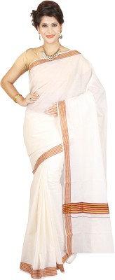 JISB Striped Coimbatore Cotton Sari
