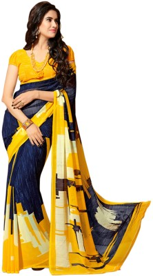 Vani Creations Printed Fashion Handloom Georgette Sari