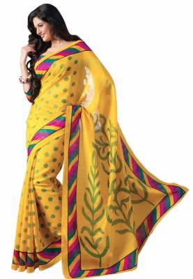 Jhilmil Fashion Printed Bhagalpuri Art Silk Sari