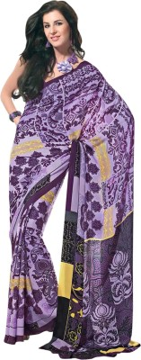 Prafful Graphic Print Fashion Crepe Sari