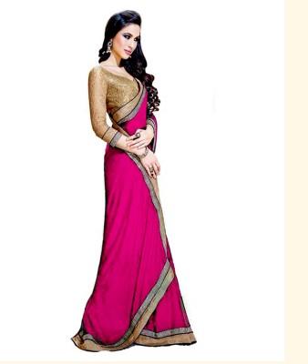Shraddha Fashion Striped Bollywood Pure Chiffon Sari