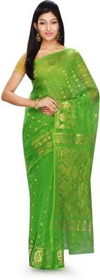 Rudrakshhh Dhakai Embriodered Jamdani Handloom Tussar Silk Sari