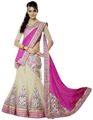 Shree Hans Creation Plain Fashion Georgette Sari