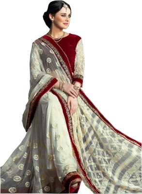 mGm Creation Embriodered Fashion Net Sari