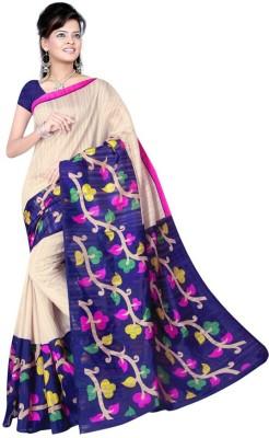 Being Feminine Printed Bhagalpuri Handloom Chanderi Sari