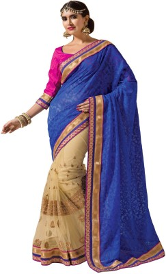 Odhni Self Design Fashion Jute, Net, Jacquard Sari