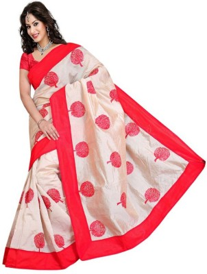 Mahalaxmi Fashion Embriodered Bollywood Handloom Silk Cotton Blend Sari