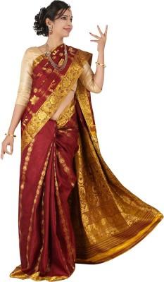 Silk Trendz Floral Print Kanjivaram Pure Silk Sari