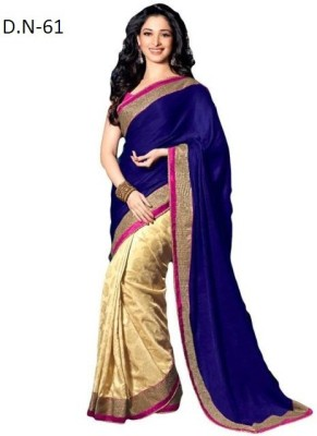 Sumitra Designs Plain Fashion Poly Silk Sari