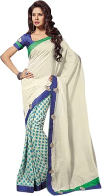 Fashion Studio Printed Fashion Silk Cotton Blend Sari
