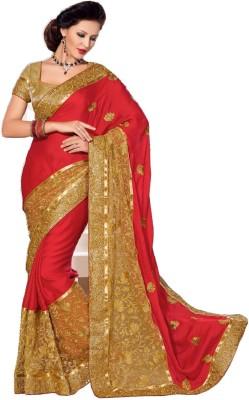Dwiti Ethnic Self Design Fashion Georgette Sari