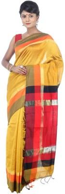 AVIK Self Design Fashion Handloom Cotton, Silk, Art Silk, Silk Cotton Blend Sari