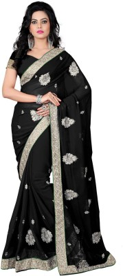 RajLaxmi Embriodered, Embellished Fashion Georgette Sari