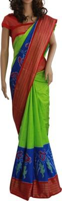 Samunnati Striped Ikkat Handloom Silk Sari