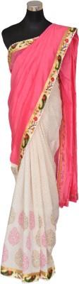 AtiGrens Solid Fashion Silk Sari