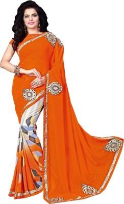 Snreks Collection Embriodered Fashion Georgette Sari