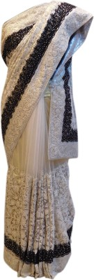 Shree Mansa Saree Embriodered Bollywood Jacquard, Pure Georgette, Net Sari available at Flipkart for Rs.22300