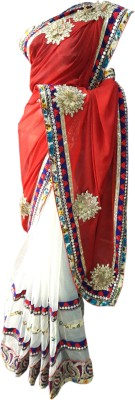 Desiner Self Design Fashion Net Sari