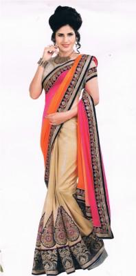 Dwiti Ethnic Solid Fashion Georgette Sari