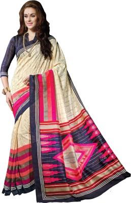 Mrsaree Printed Bhagalpuri Handloom Art Silk Sari