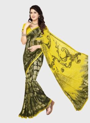 Airs Fashion Printed Daily Wear Synthetic Chiffon Sari