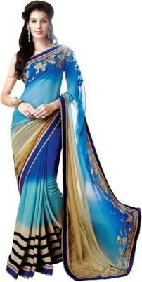Pihar Embriodered Bollywood Georgette Sari